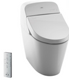 TOTO® WASHLET® G400 Bidet Seat with Integrated Dual Flush 1.28 or 0.9 GPF Toilet with PREMIST™, Cotton White - MS920CEMFG#01