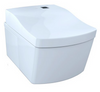 TOTO® NEOREST® AC™ Dual Flush 1.28 or 0.9 GPF Wall-Hung Toilet with Integrated Bidet Seat and Actilight®, Cotton White - CWT996CEMFX#01