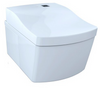 TOTO® NEOREST® EW™ Dual Flush 1.28 or 0.9 GPF Wall-Hung Toilet with Integrated Bidet Seat and eWater+®, Cotton White - CWT994CEMFG#01