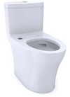 TOTO® Aquia® IV One-Piece Elongated Dual Flush 1.28 and 0.8 GPF WASHLET®+ and Auto Flush Ready Toilet with CEFIONTECT®, Cotton White - CST646CEMFGAT40#01