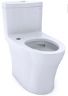TOTO® Aquia® IV One-Piece Elongated Dual Flush 1.0 and 0.8 GPF WASHLET®+ and Auto Flush Ready Toilet with CEFIONTECT®, Cotton White - CST646CUMFGAT40#01