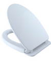 TOTO SoftClose Non Slamming, Slow Close Elongated Toilet Seat and Lid, Cotton White - SS124#01