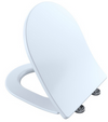 TOTO® SoftClose® Slim Square Non-Slamming Seat and Lid for SP Wall-Hung Toilet, Cotton White- SS249#01
