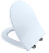 TOTO® SoftClose® Slim D-Shape Non-Slamming Seat and Lid for RP Wall-Hung Toilet, Cotton White - SS247#01
