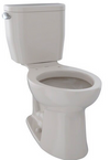 TOTO® Entrada™ Two-Piece Elongated 1.28 GPF Universal Height Toilet, Sedona Beige - CST244EF#12