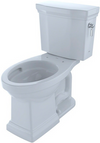 TOTO® Promenade® II Two-Piece Elongated 1.28 GPF Universal Height Toilet with CeFiONtect™ and Right-Hand Trip Lever, Cotton White - CST404CEFRG#01