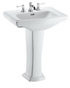 TOTO® Clayton® Rectangular Pedestal Bathroom Sink for 8 Inch Center Faucets, Cotton White - LPT780.8#01