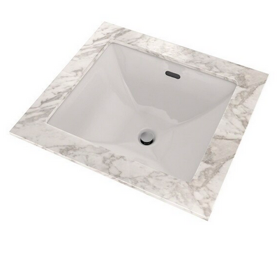 TOTO® Legato® Rectangular Undermount Bathroom Sink with CeFiONtect™, Colonial White - LT624G#11