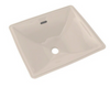 TOTO® Legato® Rectangular Undermount Bathroom Sink with CeFiONtect™, Sedona Beige - LT624G#12