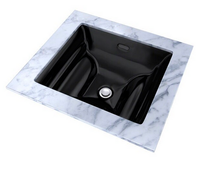TOTO® Aimes® Rectangular Undermount Bathroom Sink, Ebony - LT626#51