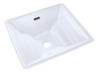 TOTO® Aimes® Rectangular Undermount Bathroom Sink with CeFiONtect™, Cotton White - LT626G#01