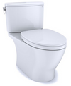 TOTO® Nexus® Two-Piece Elongated 1.28 GPF Universal Height Toilet with CEFIONTECT® and SS124 SoftClose Seat, WASHLET®+ Ready, Cotton White - MS442124CEFG#01