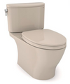 TOTO® Nexus® Two-Piece Elongated 1.28 GPF Universal Height Toilet with CEFIONTECT® and SS124 SoftClose Seat, WASHLET®+ Ready, Bone - MS442124CEFG#03