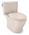 TOTO® Nexus® Two-Piece Elongated 1.28 GPF Universal Height Toilet with CEFIONTECT® and SS124 SoftClose Seat, WASHLET®+ Ready, Sedona Beige - MS442124CEFG#12