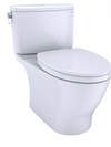 TOTO® Nexus® 1G® Two-Piece Elongated 1.0 GPF Universal Height Toilet with CEFIONTECT® and SS124 SoftClose Seat, WASHLET®+ Ready, Cotton White - MS442124CUFG#01