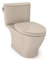 TOTO® Nexus® 1G® Two-Piece Elongated 1.0 GPF Universal Height Toilet with CEFIONTECT® and SS124 SoftClose Seat,  WASHLET®+ Ready, Bone - MS442124CUFG#03
