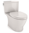 TOTO® Nexus® 1G® Two-Piece Elongated 1.0 GPF Universal Height Toilet with CEFIONTECT® and SS124 SoftClose Seat, WASHLET®+ Ready, Colonial White - MS442124CUFG#11