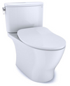TOTO® Nexus® 1G® Two-Piece Elongated 1.0 GPF Universal Height Toilet with CEFIONTECT and SS234 SoftClose Seat, WASHLET+ Ready, Cotton White - MS442234CUFG#01