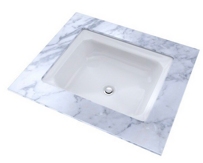 TOTO® Guinevere® Rectangular Undermount Bathroom Sink with CeFiONtect™, Cotton White - LT973G#01