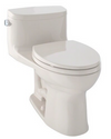 TOTO® Supreme® II One-Piece Elongated 1.28 GPF Universal Height Toilet with CeFiONtect™, Cotton White - MS634114CEFG#01