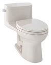 TOTO® Supreme® II One-Piece Elongated 1.28 GPF Universal Height Toilet with CeFiONtect™, Bone - MS634114CEFG#03