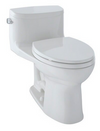 TOTO® Supreme® II One-Piece Elongated 1.28 GPF Universal Height Toilet with CeFiONtect™, Colonial White - MS634114CEFG#11