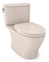 TOTO® Nexus® 1G® Two-Piece Elongated 1.0 GPF Universal Height Toilet with CEFIONTECT® and SS124 SoftClose Seat, WASHLET®+ Ready, Sedona Beige - MS442124CUFG#12