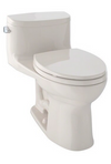 TOTO® Supreme® II One-Piece Elongated 1.28 GPF Universal Height Toilet with CeFiONtect™, Sedona Beige - MS634114CEFG#12