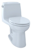 TOTO® UltraMax® One-Piece Elongated 1.6 GPF Toilet with CeFiONtect™, Cotton White - MS854114SG#01