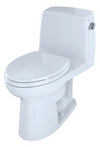 TOTO® UltraMax® One-Piece Elongated 1.6 GPF ADA Compliant Toilet with Right-Hand Trip Lever, Cotton White - MS854114SLR#01