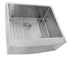 Nantucket Sinks' Apron2420SR-16 - 24 Inch Pro Series Single Bowl Farmhouse Apron Front Stainless Steel Kitchen Sink