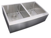 Nantucket Sinks 33 Inch Double Bowl Farmhouse Apron Front Stainless Steel Kitchen Sink