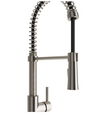 BOCCHI Livenza Spiral Pull-Down Spray Kitchen Faucet - Brushed Nickel