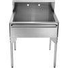 CAREY, Brushed Stainless Steel, Freestanding Sink w/ Towel Bar