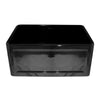 ANNA Fireclay Black Reversible Sink with a Concave Front Apron
