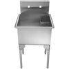 CAMILLE Stainless Steel Square Commercial Freestanding Utility Sink