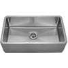 BOBBI Noah's Stainless Steel Front Apron Under-mount Sink