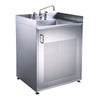 ALICIA Brushed Stainless Steel Single Door Cabinet with Sink