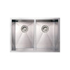 BETHANIE Noah Stainless Steel Commercial Dual Bowl Under-mount Sink