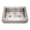 BESSIE Noah Stainless Steel Commercial Dual Bowl Sink
