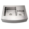 BETH Noah Stainless Steel Commercial Dual Bowl Sink/ Arched Apron