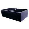"ARIANA Fireclay Reversible Dual Bowl Sink w/ 2"" & 2 ½"" Lip- Blue"