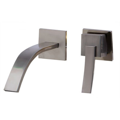 Caleb Single Lever Wallmount Bathroom Faucet Polished & Brushed
