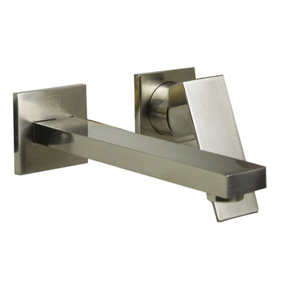 Ryan Single Lever Wallmount Bathroom Faucet Polished & Brushed