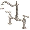 Barclay Guthrie Kitchen Bridge Faucet with Metal Lever Handles