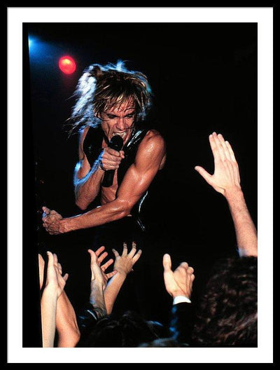 Iggy Pop Performs In Minnesota Framed Print