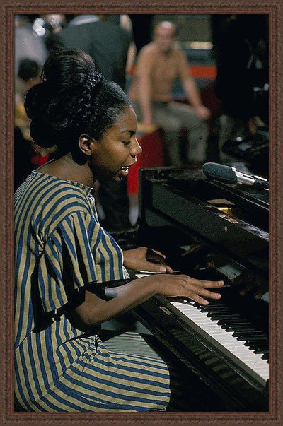 Nina Simone On Ready Steady Go Framed Print