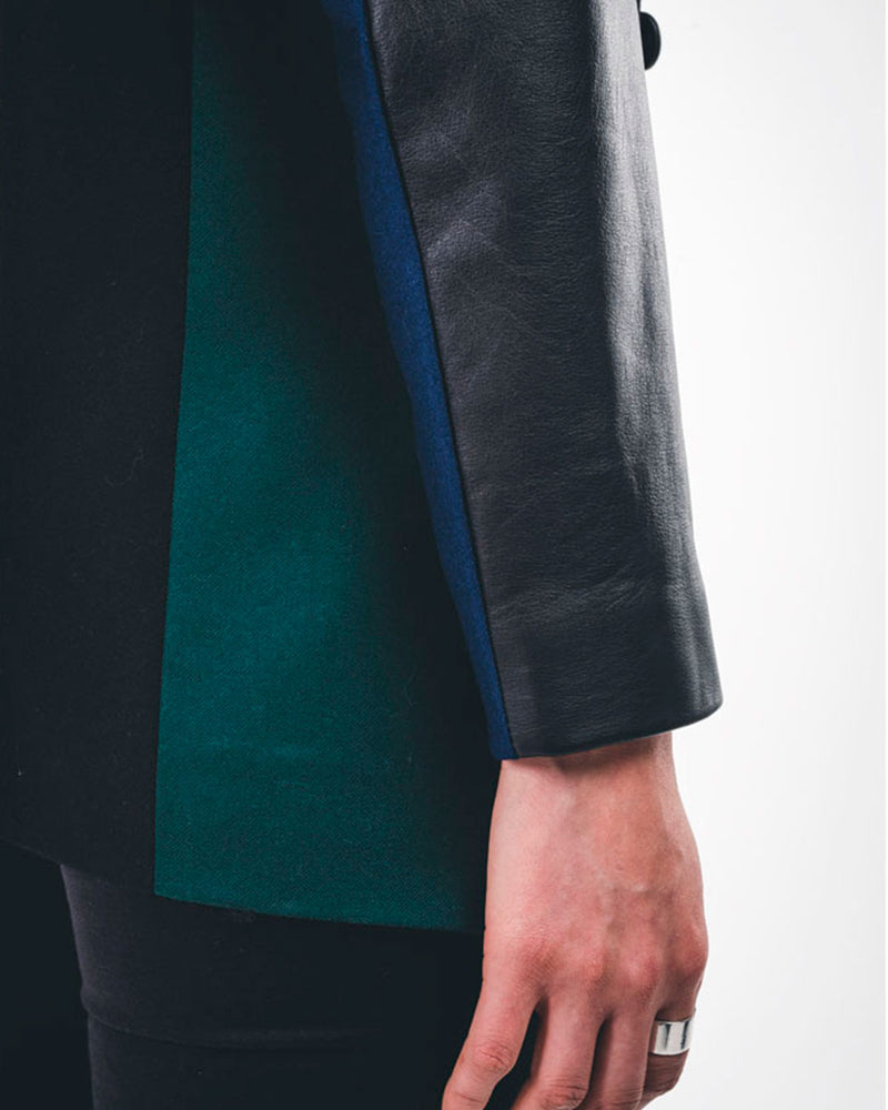 STORM WOOL AND LEATHER BLAZER