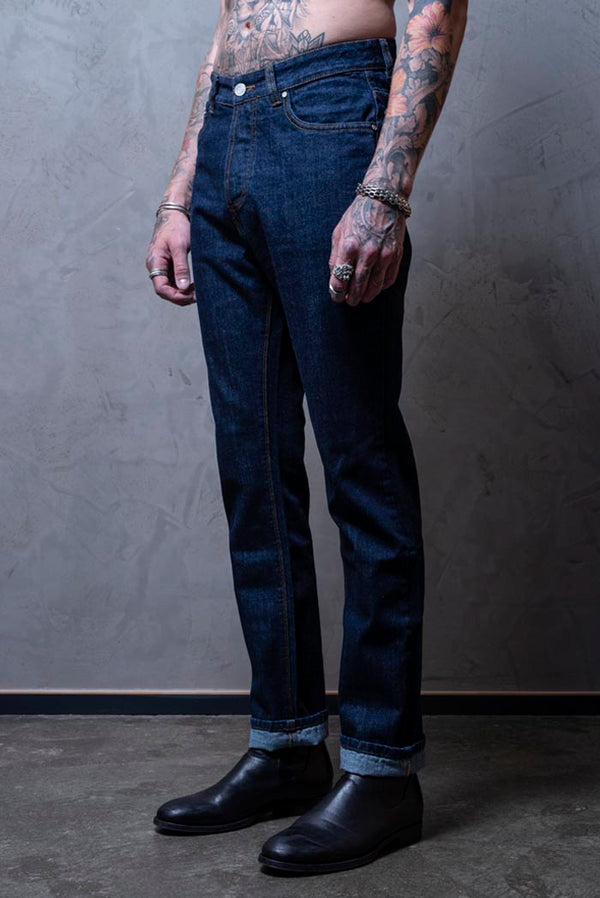 Mens Relaxed Fit Jeans - Dark blue