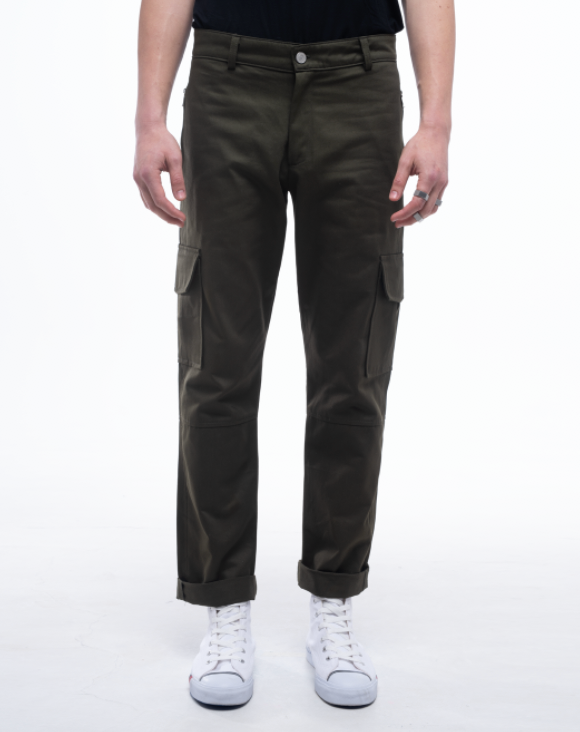 HUNT CARGO PANTS - Military Green